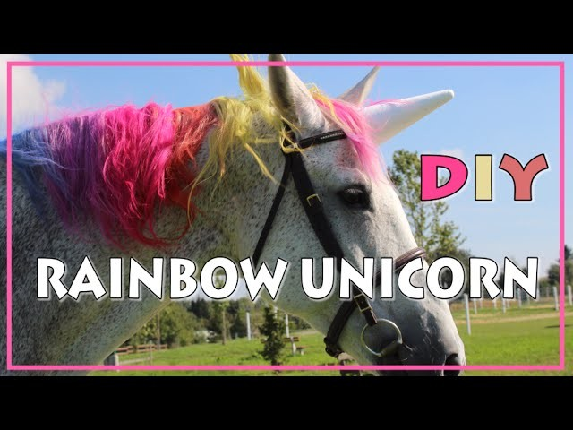 DIY Rainbow Unicorn  ♥ REGENBOGEN EINHORN Tutorial
