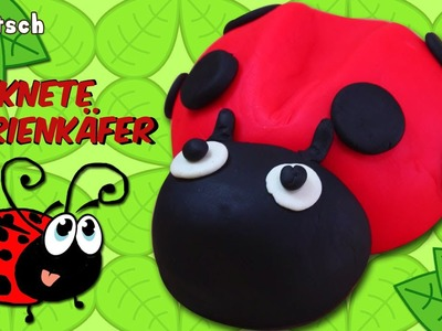 German DIY Einfach: How To Play Doh Ladybug | Knete Marienkäfer Deutsch Lernen