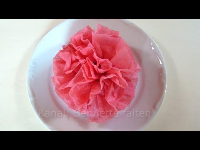 Servietten falten Rose. Blume - Einfache Deko für Hochzeit