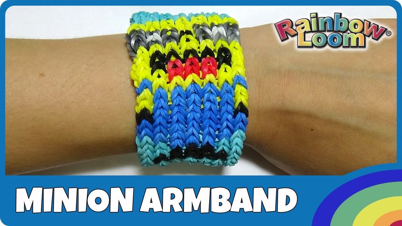 Rainbow Loom Minion-Armband Bob - deutsche Anleitung