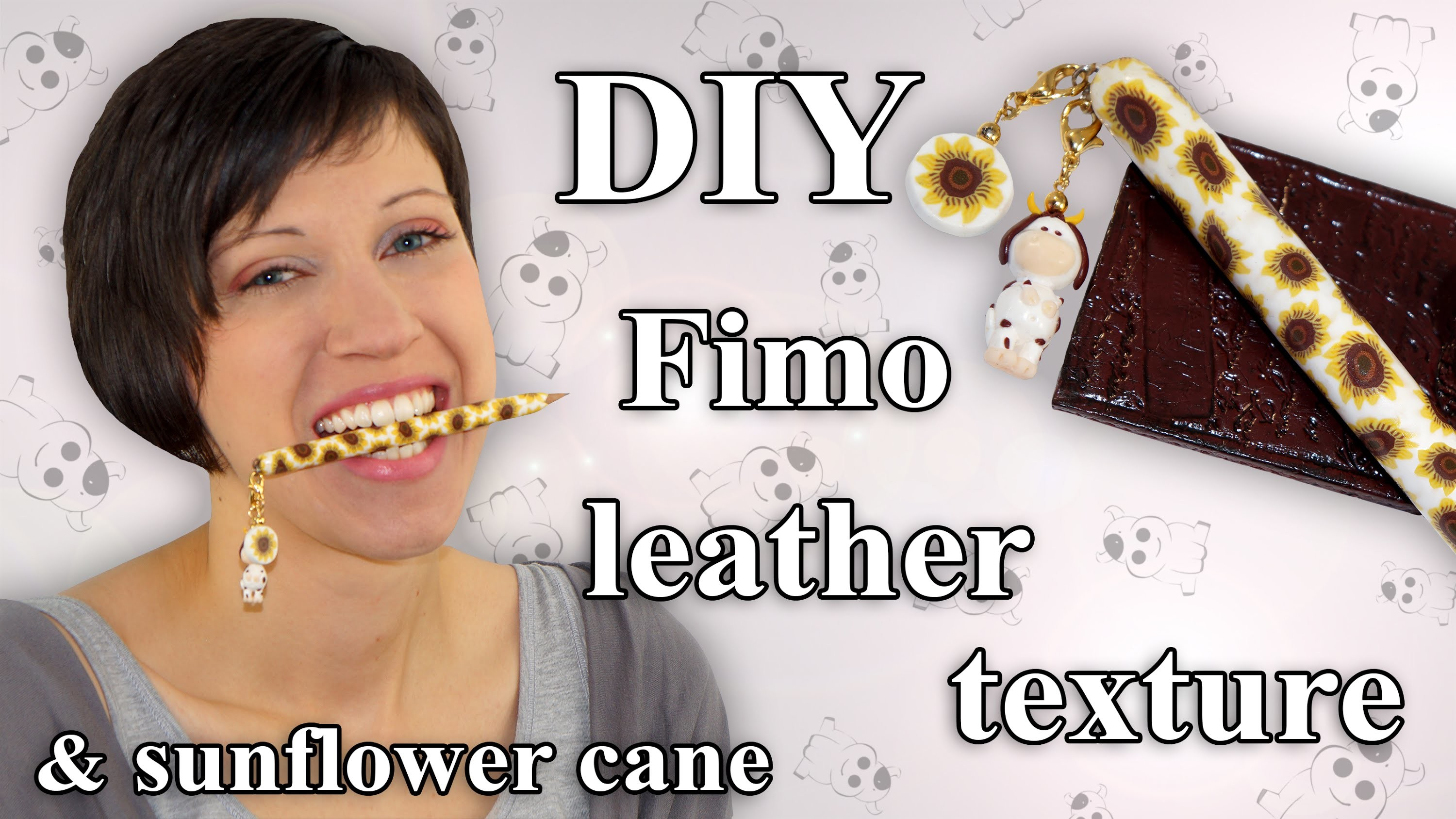 FIMO Leder Stift: Polymer Clay Pen Holder Sunflower - Tutorial [HD.DE] (EN-Sub)