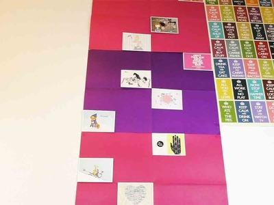 DIY Wall Decor | Super einfache Wanddeko selber machen | mit Geschenkpapier & Postkarten