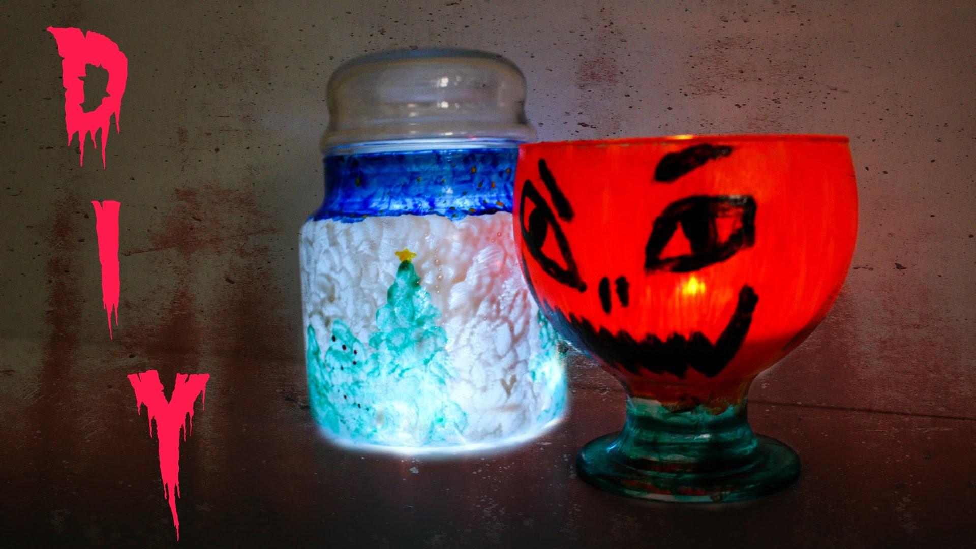 Halloween.Weihnachts-Teelicht DIY