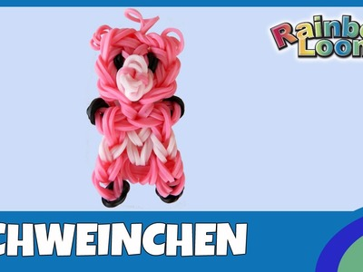 Rainbow Loom Schweinchen - deutsche Anleitung