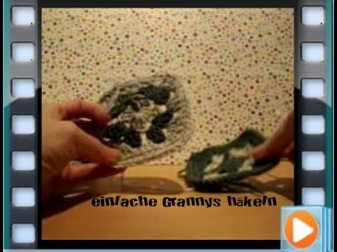 Einfache mehrfarbige Grannys häkeln