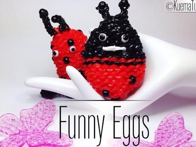 Rainbow Loom Funny Eggs - Marienkäfer. ladybug