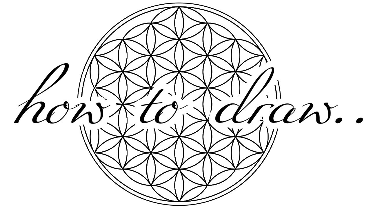 How To Draw ✎  FLOWER OF LIFE  Mandala ♥ DIY | Tutorial ♥