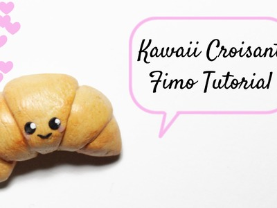 [Fimo Friday] Kawaii Croissant Fimo Tutorial. Kawaii Croissant polymer clay tutorial | Anielas Fimo