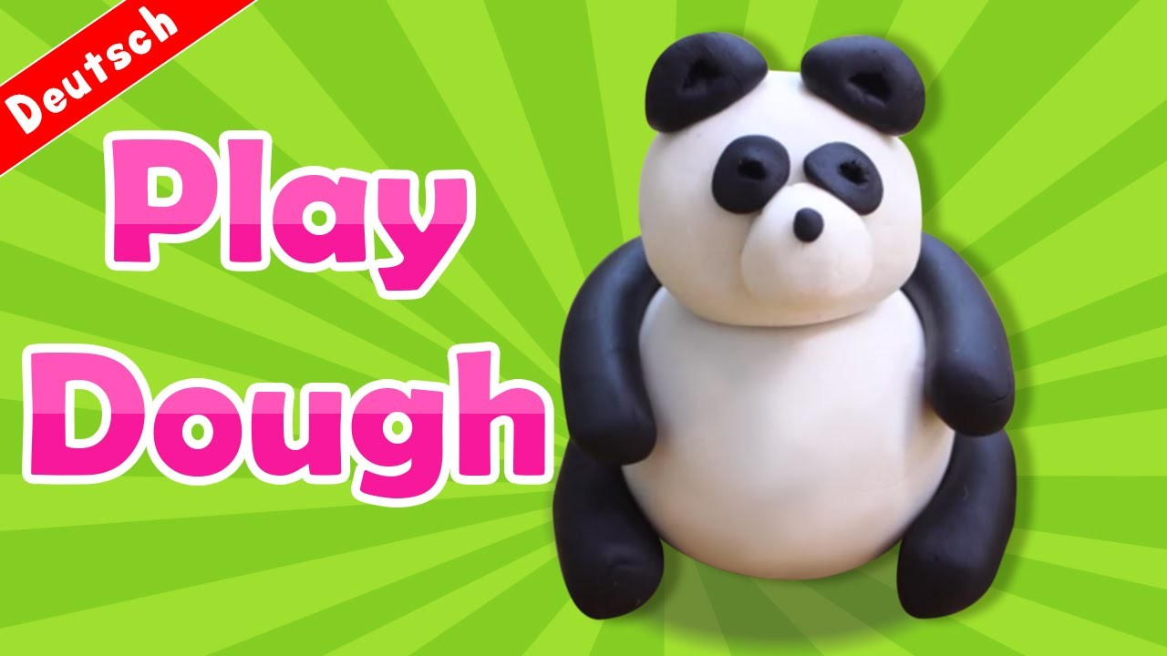 Play Doh | How to Make Play Doh Panda | PANDABÄR AUS KNETMASSE