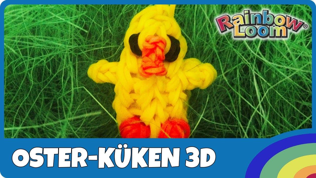 Rainbow Loom Oster-Küken 3D - deutsche Anleitung