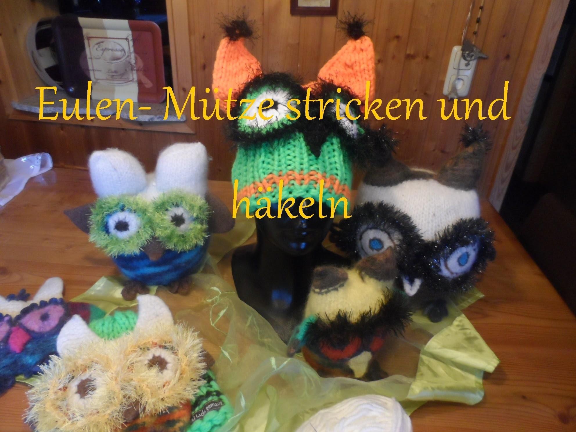 DIY : keka # Eulen - Mütze stricken und häkeln , selber machen - 2.2