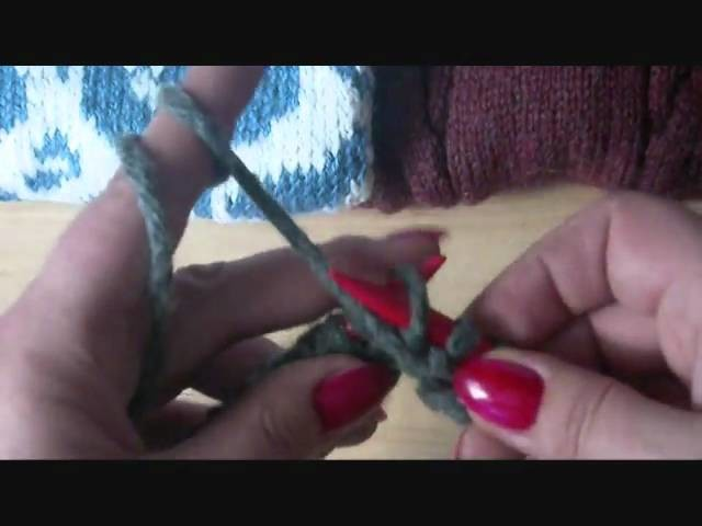 Stricken Maschen verkehrt. purl stitch