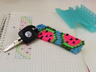 Alpha Loom Schlüsselanhänger mit Wassermelonen Motiv | Keychain | Rainbow Loom  |