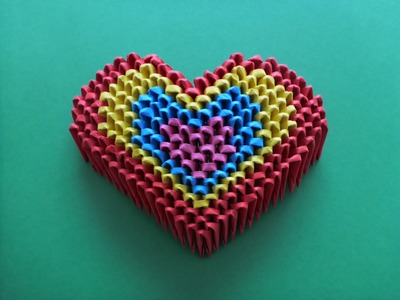 DIY Origami 3D Herz Video - Anleitung, Mother´s day Gift Ideas Heart Tutorial