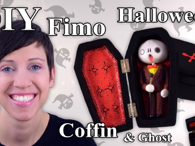 FIMO Sarg: Polymer Clay Halloween Coffin - Tutorial [HD.DE] (EN-Sub)