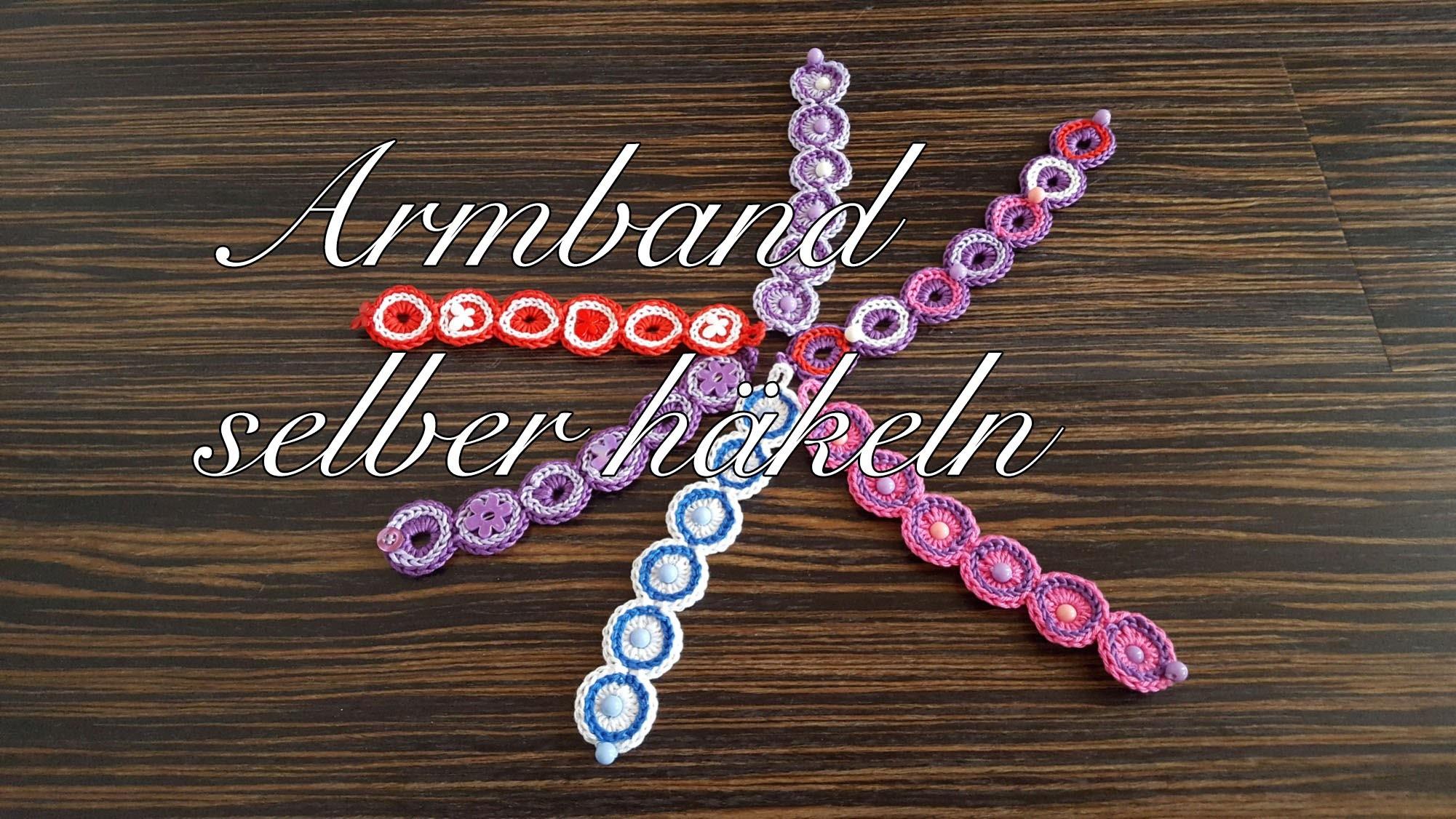 Armband selber häkeln mit Perlen oder Blumen