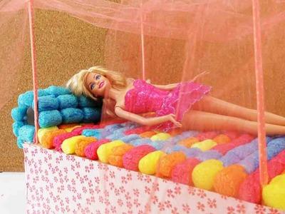 Barbie Bett Basteln - DIY Himmelbett selber machen