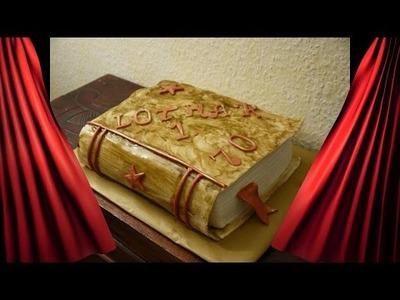 DIY Buch TORTE auch zur Einschulung Motivtorte Torten dekorieren mit Fondant in Buchform