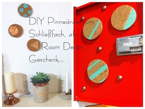 DIY Pinnwände fürs Schließfach, Room Decor, Geschenkidee