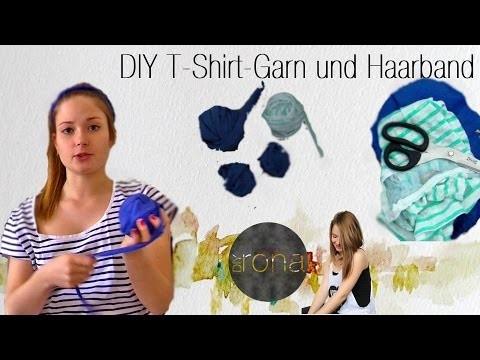 DIY T-Shirt Garn &  Haarband   DIYrona