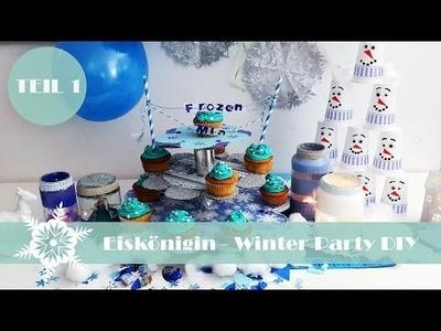 Eiskönigin Winter Party DIY Teil 1. | Olaf-Kegelspiel, Elsa-Schneekugel & mehr