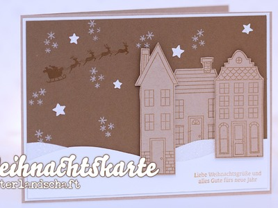 Stampin' Up! - How I make a christmas card - Weihnachtskarte - Winterlandschaft
