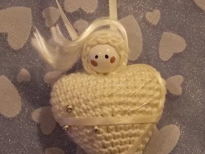DIY Häkeln  Engel mit Herz Weihnachten Gratisanleitung