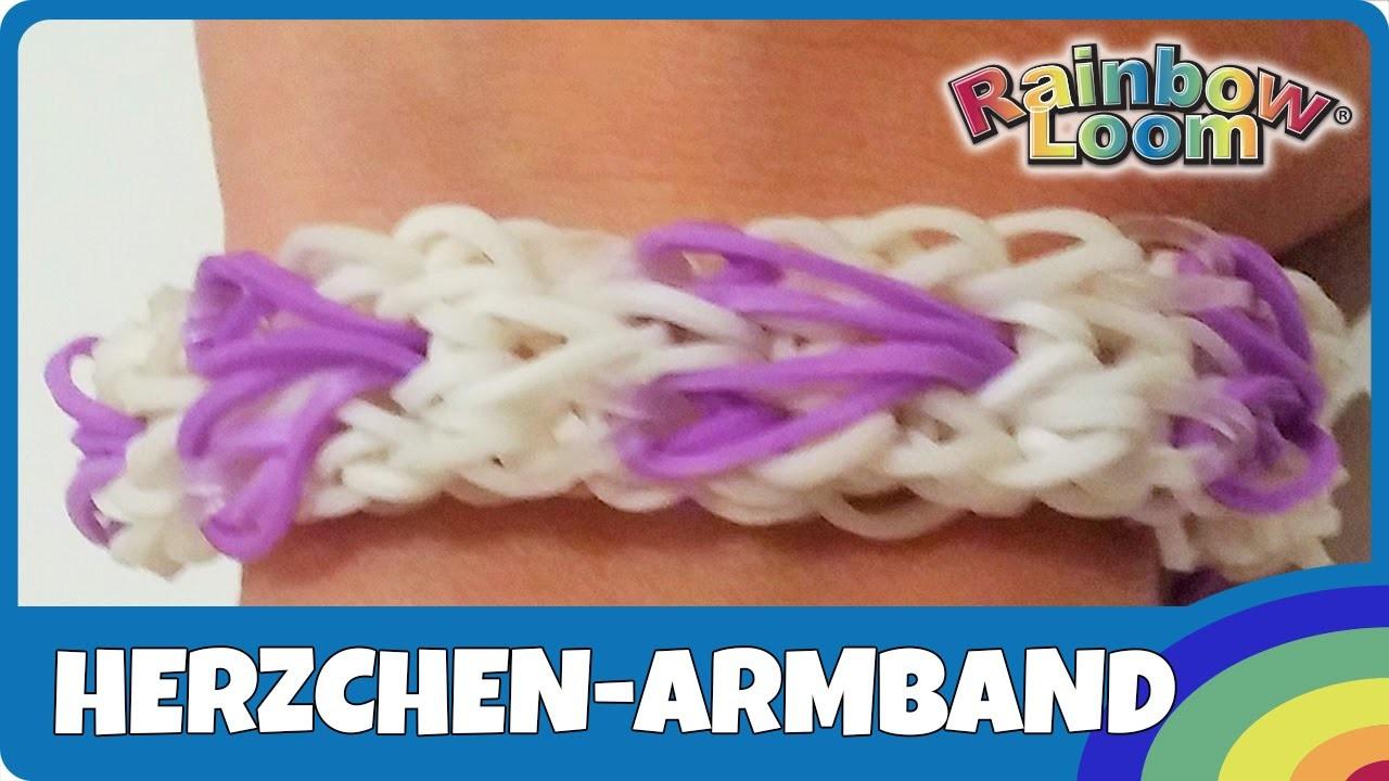 Rainbow Loom Herzchen Armband - deutsche Anleitung