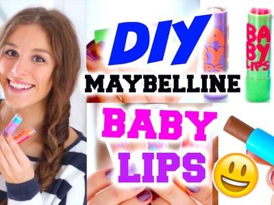 DIY MAYBELLINE BABY LIPS ♡ mit Nutella, Glitzer oder Pumpkin Spice! BarbieLovesLipsticks