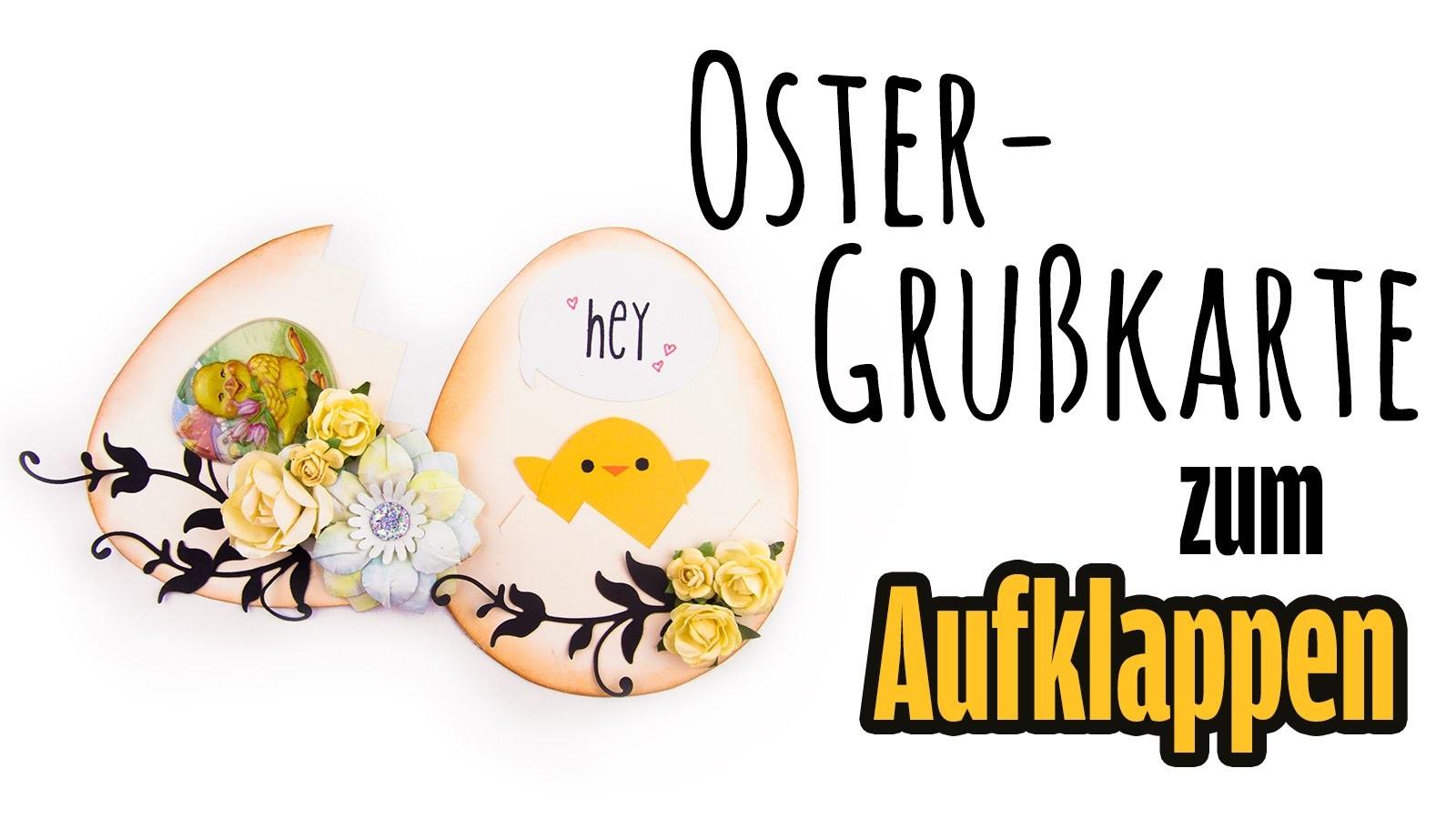 [Ostern #3] Grußkarte in Eierform zum Aufklappen | DIY Ostergrüße