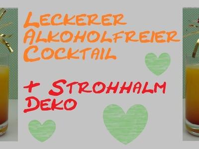 Cocktail - Alkoholfreier Cocktail mit Orange, Pfirsich und Grenadine. deutsch