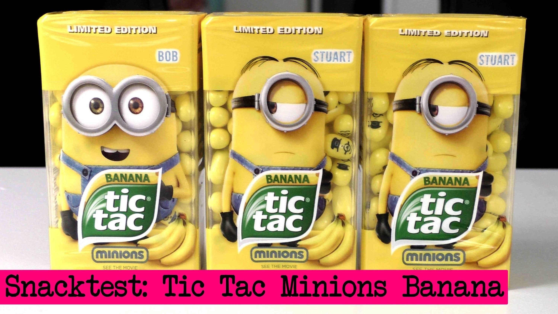 DIY Inspiration Snacktest: TicTac Minions Banana. Kathi und Eva testen die Minion TicTacs