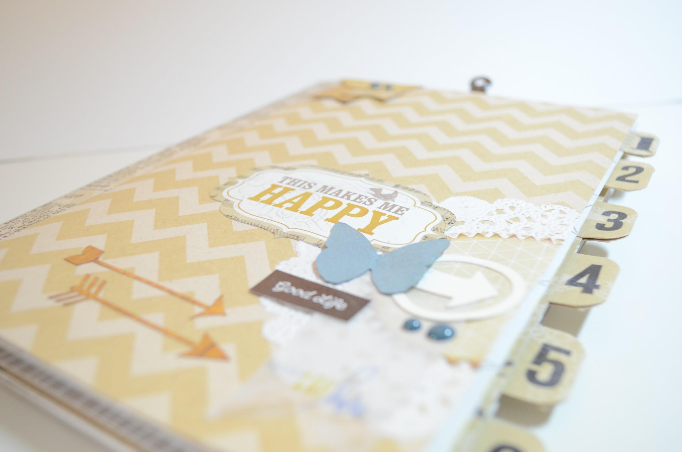 Scrapbook Mini Album Happy[Basteln mit Papier,Deutsch]