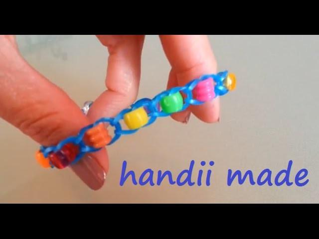 Loom Bands Armband *** Perlen *** über Finger. Stifte (Anleitung deutsch) ohne Loom