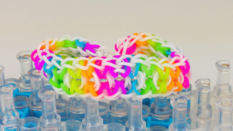 2 Loom Boards aneinander! Rainbow Loom Bracelet auf 2 Boards! Loom Band Bracelet Anleitung