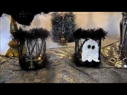 DIY:keka HALLOWEEN Gespenst häkeln,;Grusel Party,Tisch DEKO;-Häkel Schule