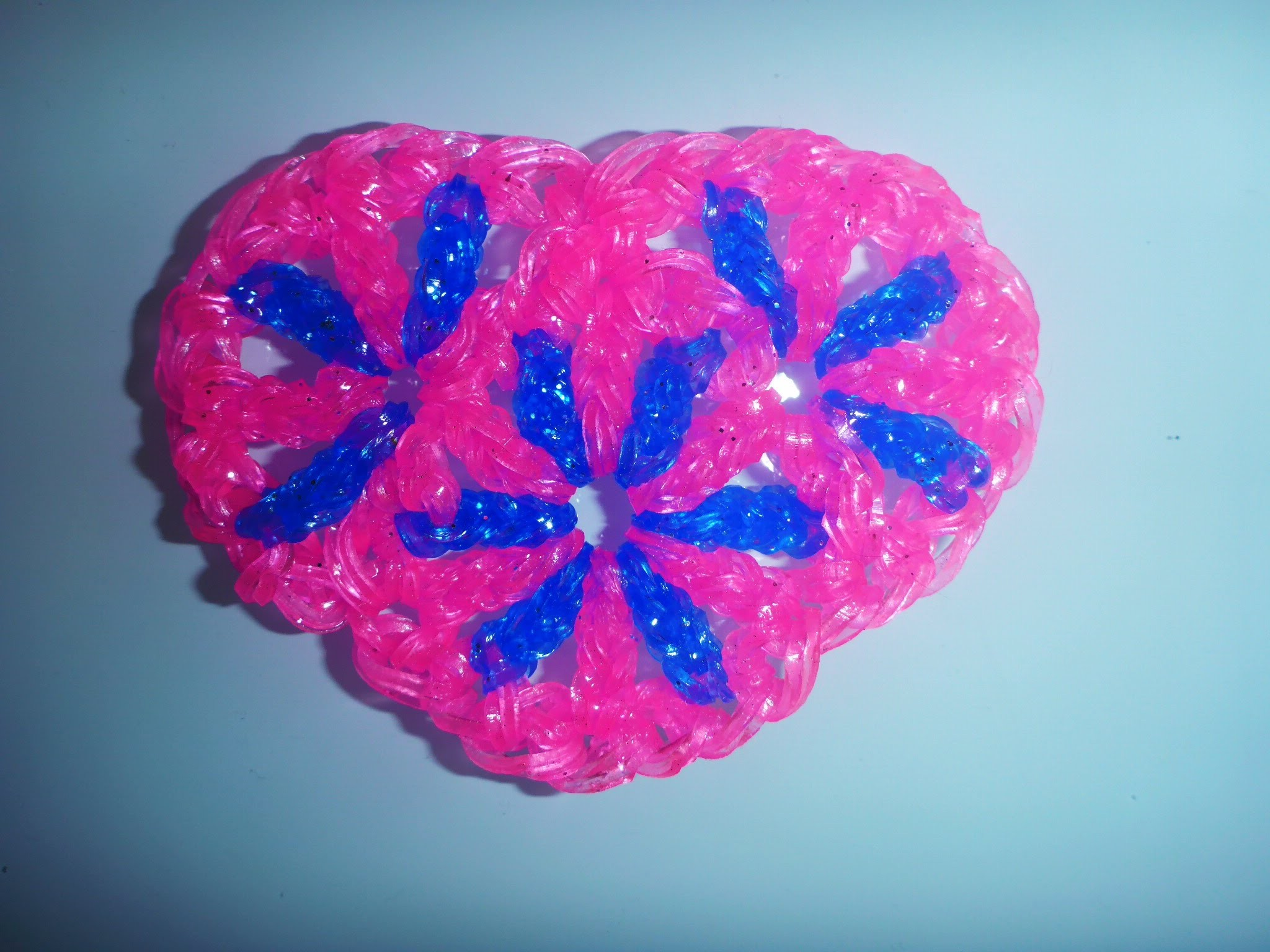 DIY Loom Bands Herz Geschenk zum Valentinstag, Muttertag, Mother´s day Gift Ideas Heart, Tutorial