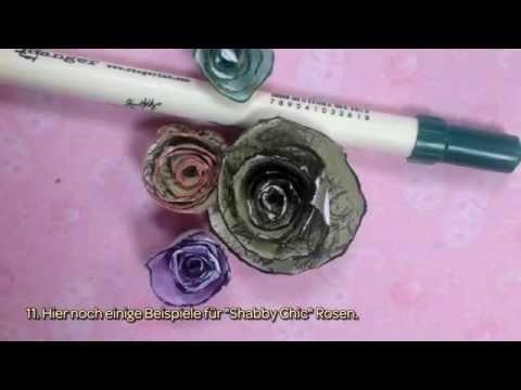 Hübsche Gerollte Papierrosen Basteln - DIY Crafts - Guidecentral