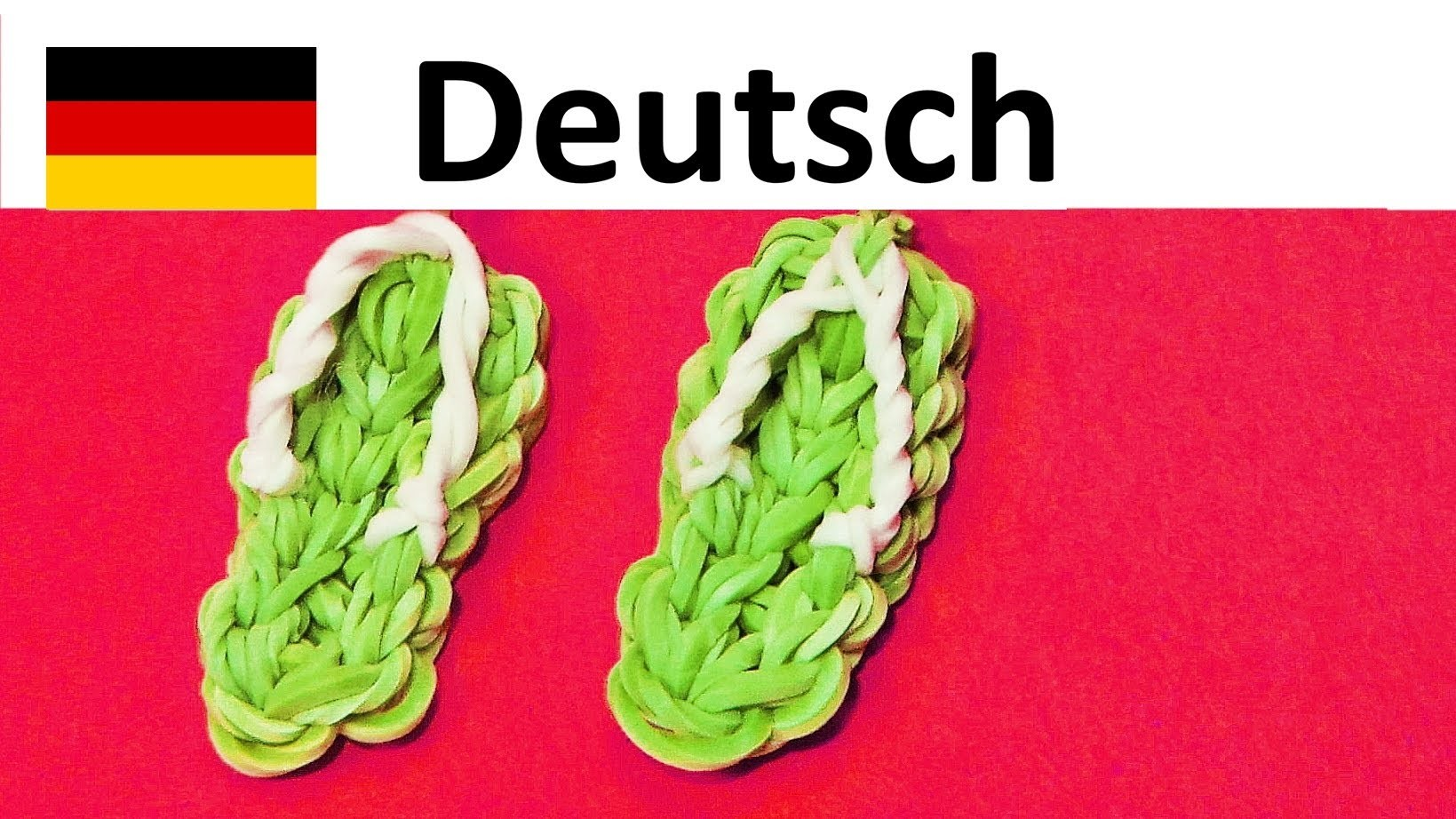 Loom Bands Anleitung Deutsch Sandalen    Rainbow Loom    Loom bandz