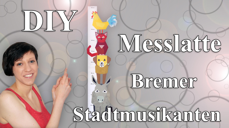 Messlatte basteln - Bremer Stadtmusikanten