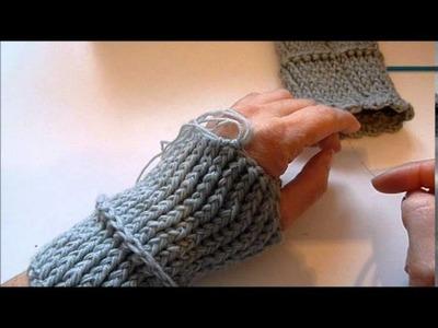 Pulswärmer häkeln - Handschuhe - crocket - Handstulpen