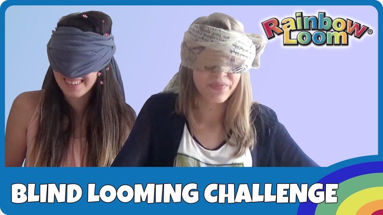 Rainbow Loom Blind Looming Challenge - deutsch
