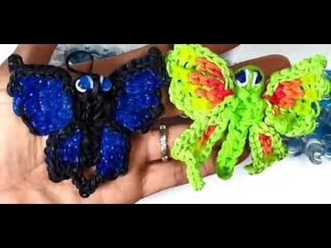 Loom Bandz Anleitung Deutsch Schmetterling Tiere, Rainbow Loom Deutsch Loom Bands