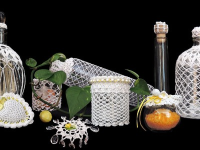 Behäkelte Flaschen und Gläser HÄKELN CROCHET