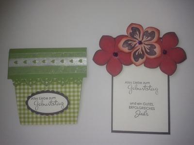 Flower Pot Card - Build A Blossom