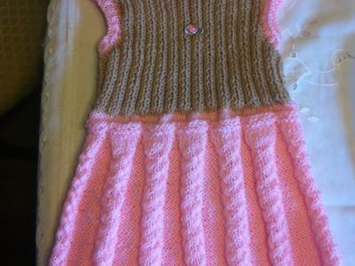 Babykleid Stricken*Trägerrock*Mädchenkleid*Kinderbekleidung*Teil 3*DIY
