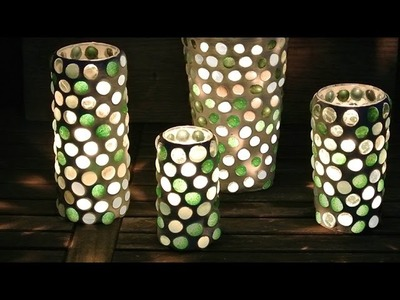 DIY Glass Nugget Votive - Glasstein Windlicht
