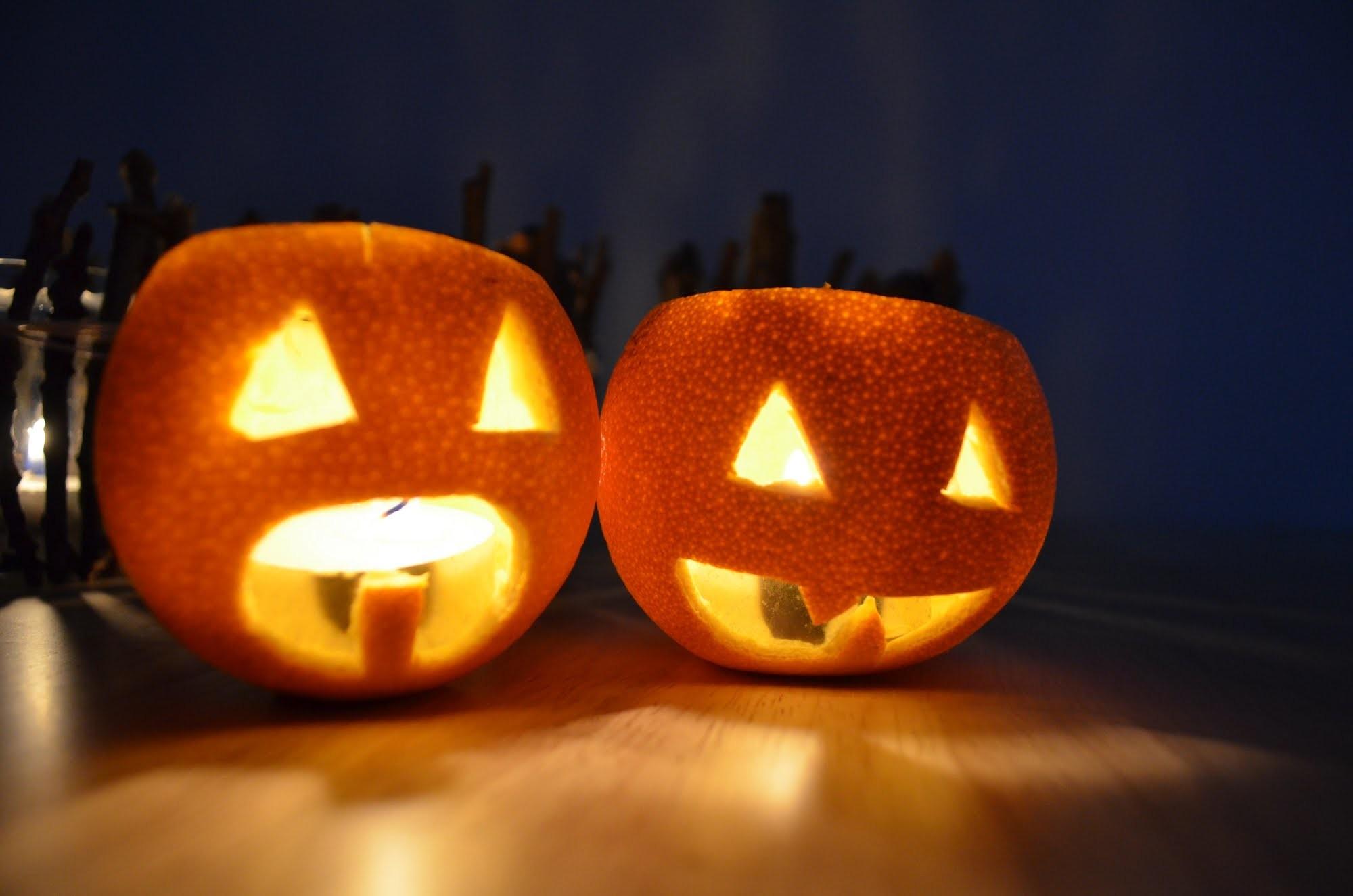 DIY Halloween-Orangen