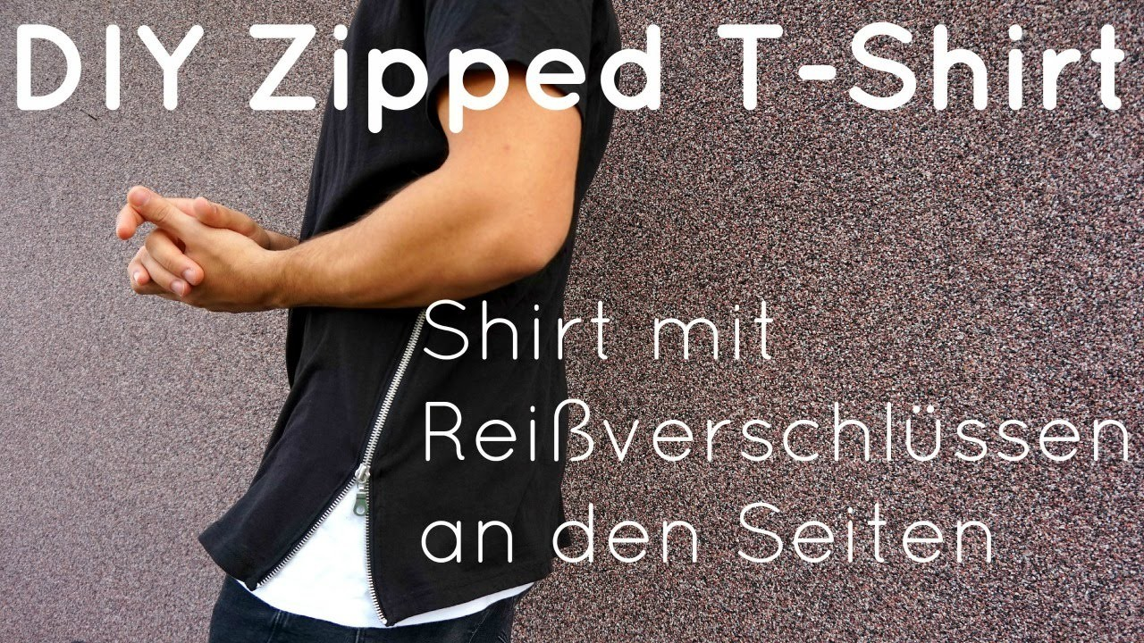 DIY | Zipped T-Shirt in 10 Minuten