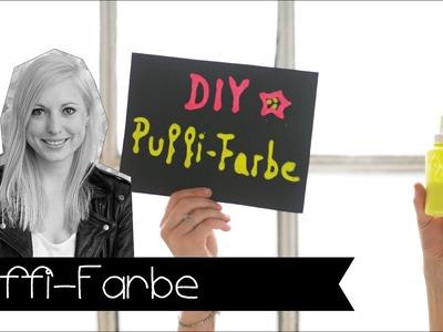 3D Puffi-Farbe selber machen! | Basteln mit Kindern | DIY | KINNERTIED | #14